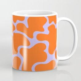 Red and Lilac Blobs Coffee Mug