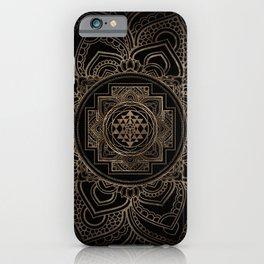 Golden Sri Yantra  / Sri Chakra in lotus iPhone Case