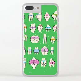 UNDERPANTS Green Clear iPhone Case