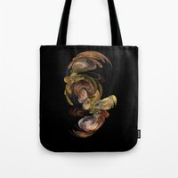 baroque Tote Bags featuring Baroque by Tobias Bowman