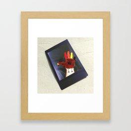 Hand Turkey Framed Art Print