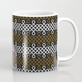 Endless Knot pattern - Gold & white Coffee Mug