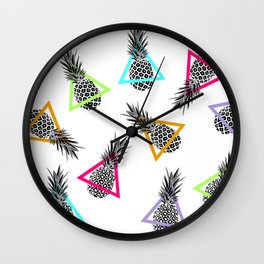 Pineapples & Triangles Wall Clock