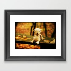 Taking the weight off my Paws Framed Art Print