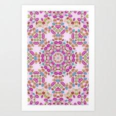 Love and Kisses Mandala Art Print