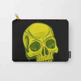 Skull - Yellow Carry-All Pouch