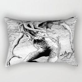 Cthulhu pen art Rectangular Pillow