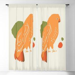 Quirky Australian King Parrot Blackout Curtain