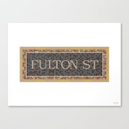 Fulton Street Canvas Print