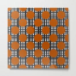 Autumn Dots and Plaid Metal Print