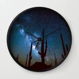 Milky Way Cacti Wall Clock