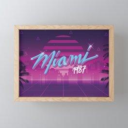 Vaporwave Miami 1987 Framed Mini Art Print
