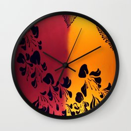 The Flower of our Discontent Wall Clock