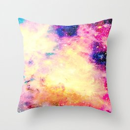 Galaxy: Carina Nebula Colorful Throw Pillow