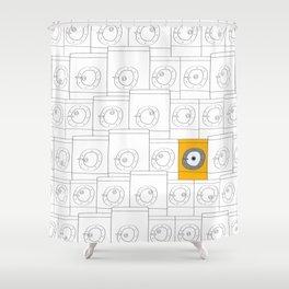laundromat machine Shower Curtain