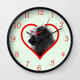 Gorilla heart Wall Clock