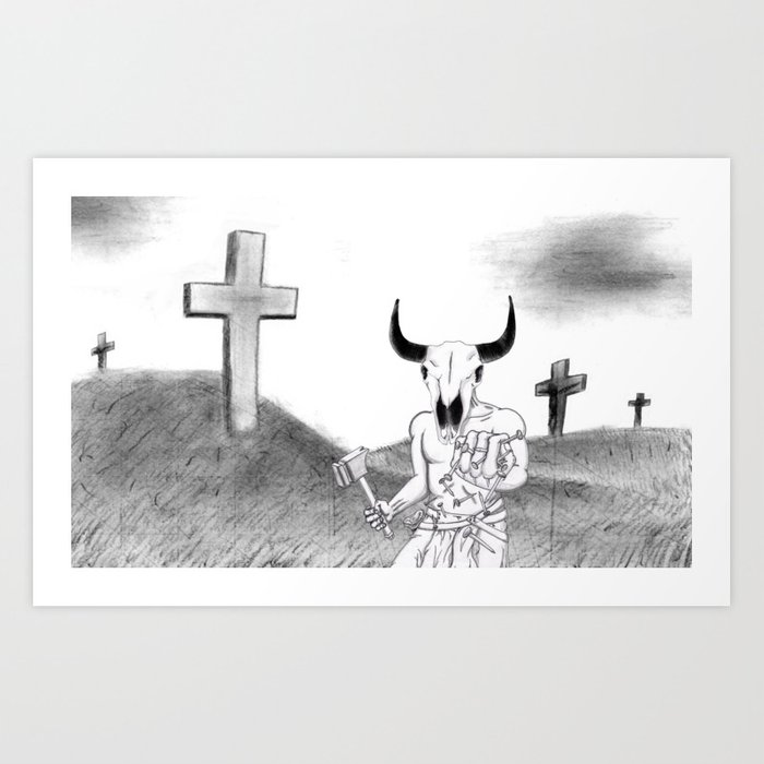 Lord of Golgotha Art Print
