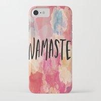 namaste iPhone & iPod Cases featuring Namaste by Laura Santeler