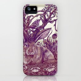 Rabbit Horns iPhone Case