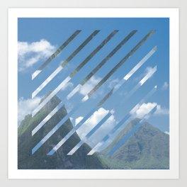 Caribbean Mountains Art Print