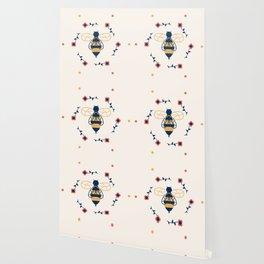 Floral Honeycomb Wallpaper