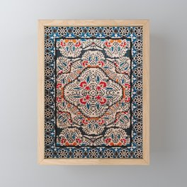 Bohemian Oriental Traditional Moroccan Illustration Design Framed Mini Art Print