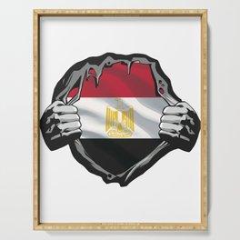 Egyptian Flag Egypt Serving Tray