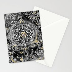 Manipura°^Golden Waves in Snowy Space Stationery Cards