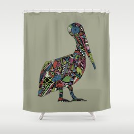 Shafted Pelican Shower Curtain