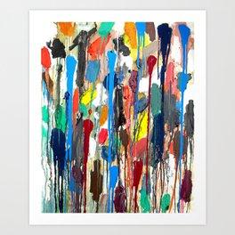 Paint upwards Art Print