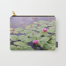Lily pond with pink water lilies Carry-All Pouch