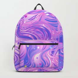 Pink & Purple Waves in the Stars Backpack