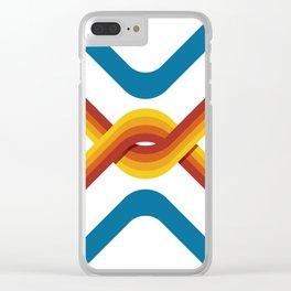 Retro Stripe Clear iPhone Case