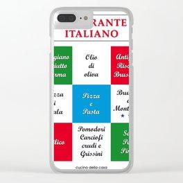 Italia Italy Cooking Pasta Pizza Deco Vintage Design Clear iPhone Case