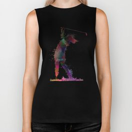Golf player art 2 Biker Tank