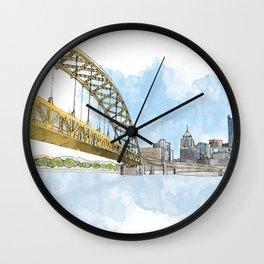 Fort Pitt Bridge Wall Clock