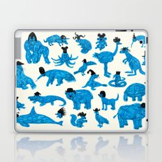 Blue Animals Black Hats Laptop & iPad Skin