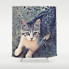My Favorite Stray Cat Shower Curtain