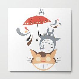 cat Umbrella Metal Print