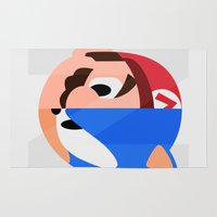 sonic Area & Throw Rugs featuring Mario & Sonic by Thomas Official