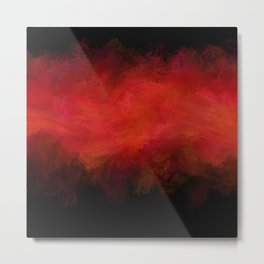Abstract Red Black Dark Matter Metal Print