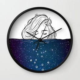 Deep breathing. Wall Clock