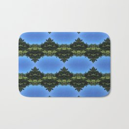 Days with Blue Sky and Green Tree Bath Mat