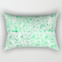 dark and light green tropical leaves pattern Rectangular Pillow