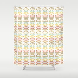 Burger Time Shower Curtain