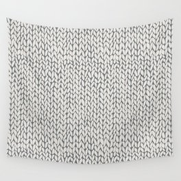 Hand Knit Grey Wall Tapestry