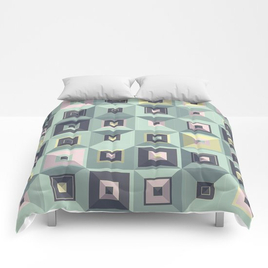 Lost in Squares III Comforters
