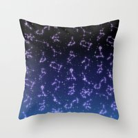 constellation Throw Pillows featuring CONSTELLATION by CLUB GALAXY