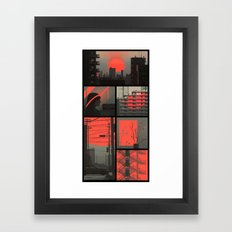 Red - collection Framed Art Print