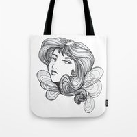 gray Tote Bags featuring Gray by Virginia Skinner